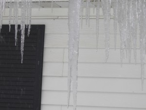 Icicles on the house