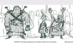 BRAVE storyboard crew