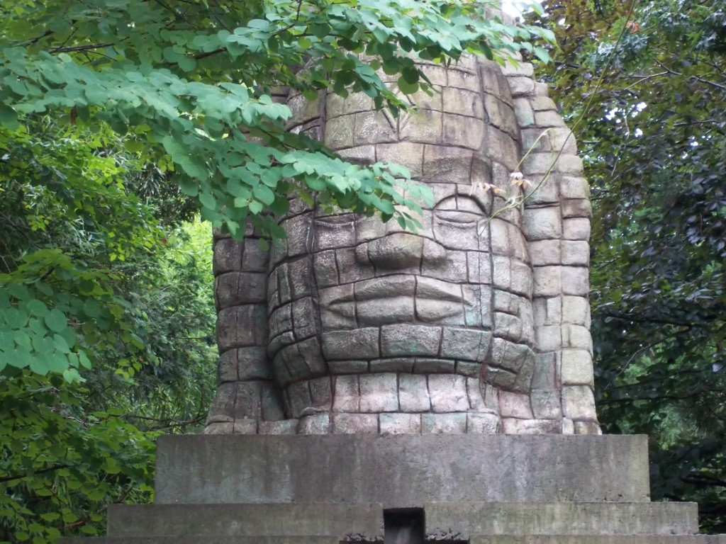 Statue at Bronx Zoo