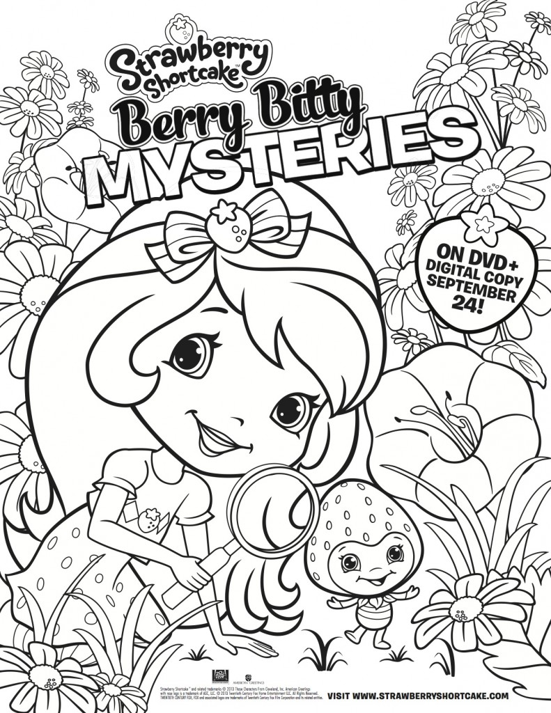 Berry Bitty Mysteries coloring page