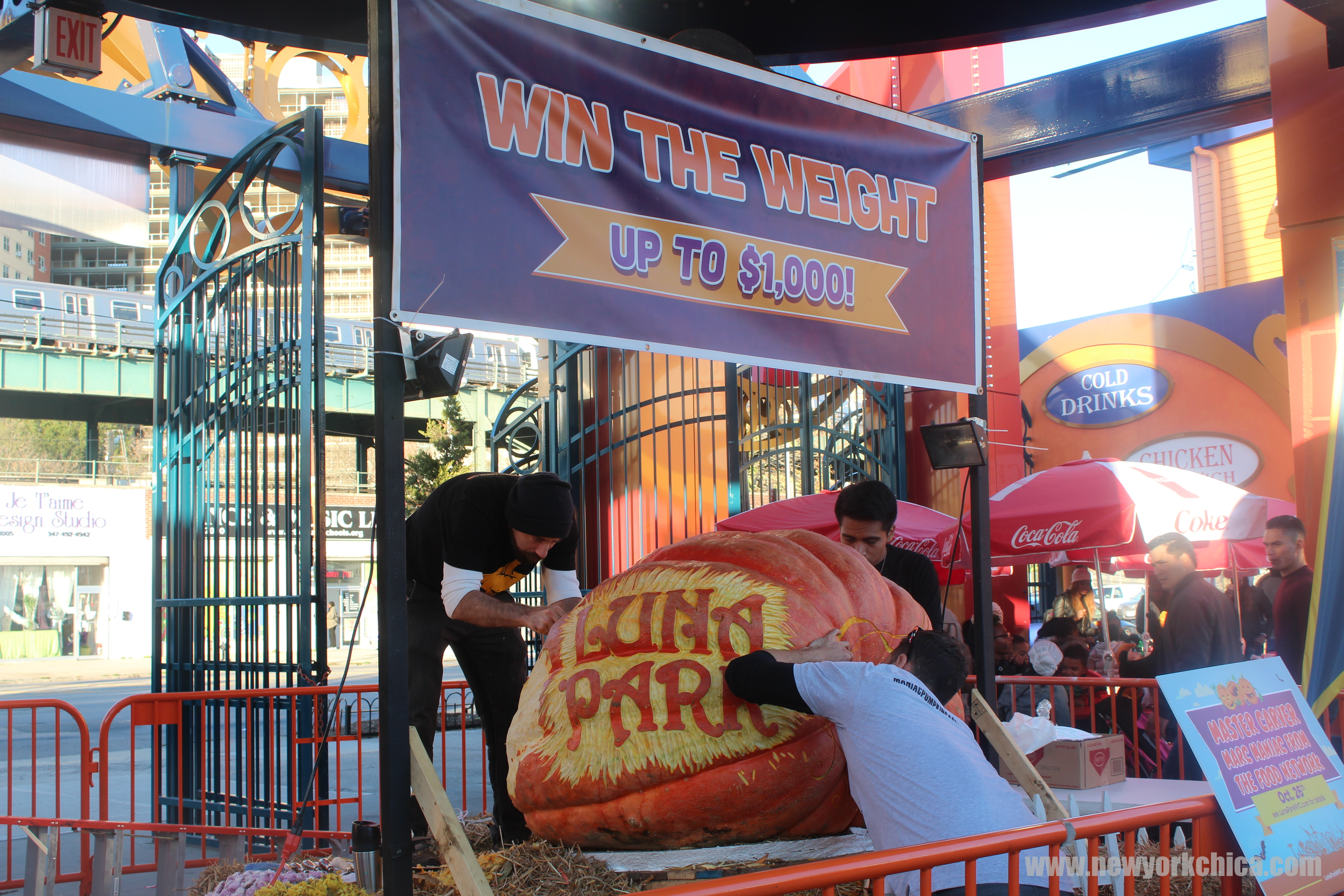 luna park hosted the biggest day of its halloween harvest celebration yesterday in addition to the festive dcor and costumed characters wandering the park