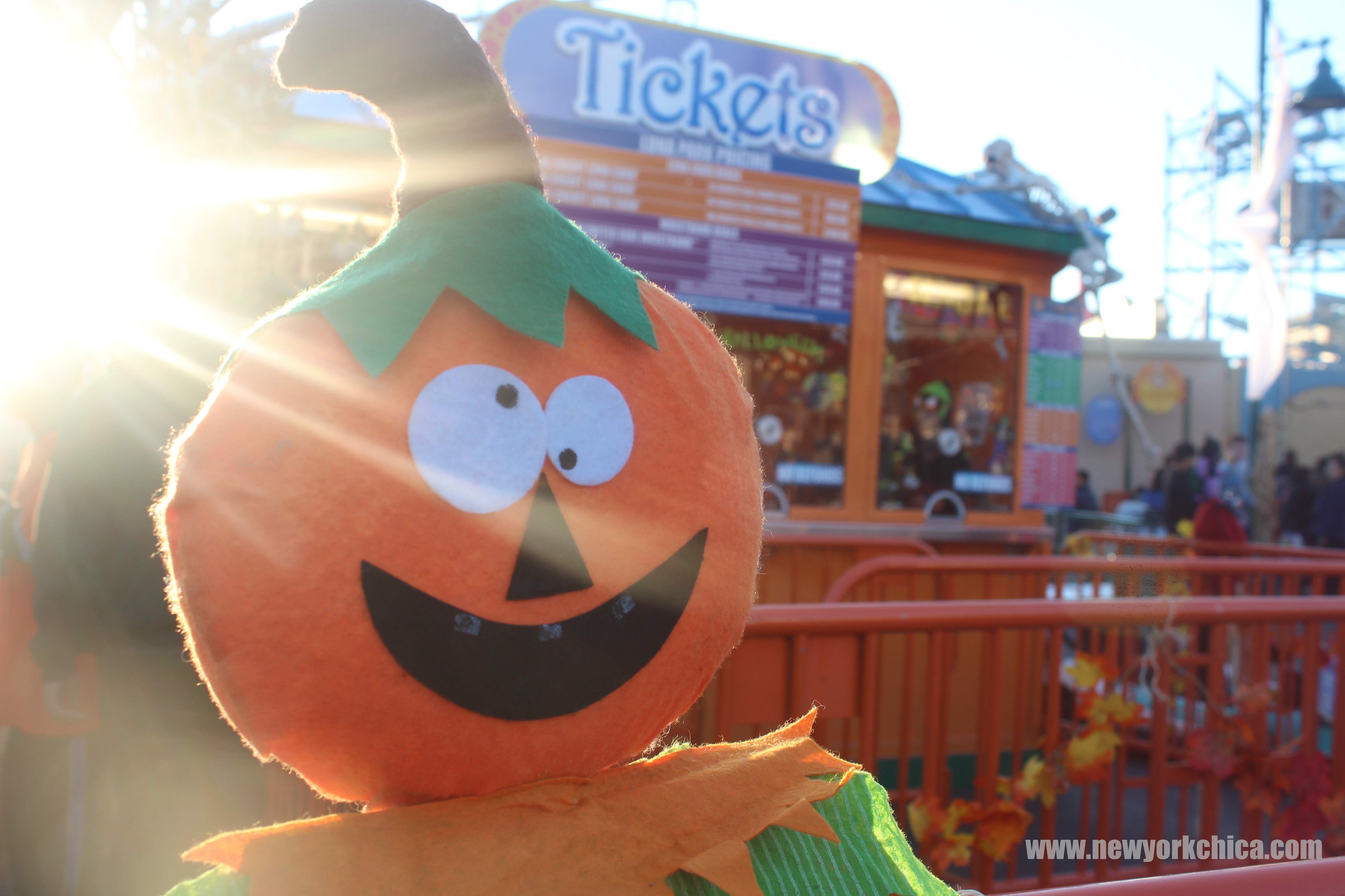 yesterday afternoon my daughter and i headed to coney island to take advantage of luna parks halloween harvest