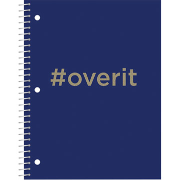Glitter Hashtag Notebook - Over It