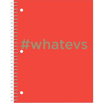 Glitter Hashtag Notebook - Whatevs