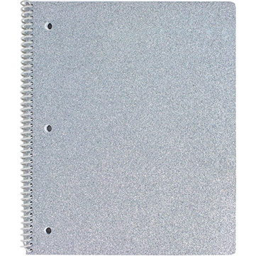 University of Style Glitter Notebook - Silver
