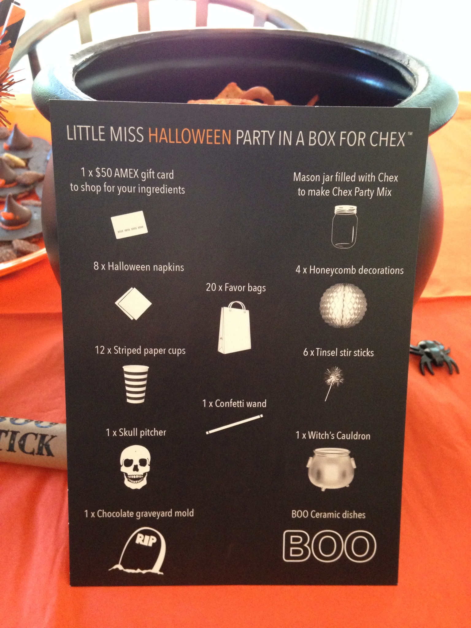Little Miss HALLOWEEN Party in a Box For Chex