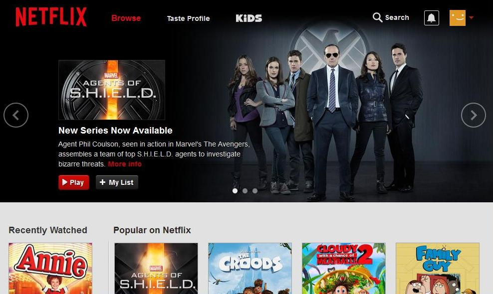 Netflix starting page #StreamTeam
