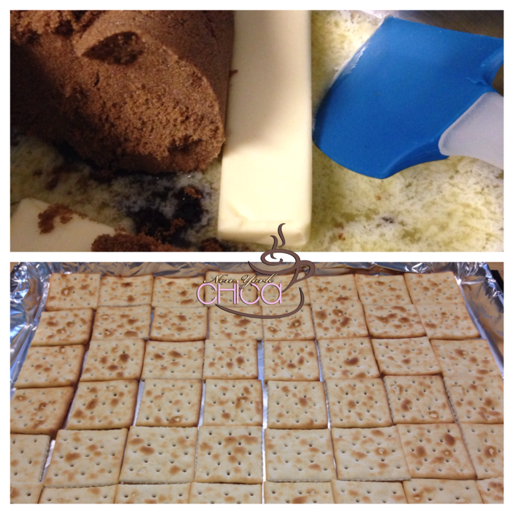 Christmas Toffee Step by Step