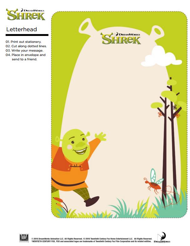 Shrek Letterhead