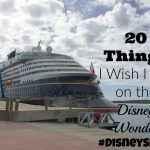 20 Things I Wish I did on the Disney Wonder. #Disneysmmc