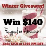 Enjoy the Holiday Season with a $140 Giveaway to Paypal or Amazon!